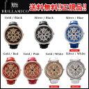 ★2016年リニューアルしました!★新BRILLAMICO(ブリラミコ)腕時計高品質スワロフスキーを使用!高級感溢れるデザイン揺れに合わせて回る文字盤!【送料無...
