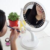 【メーカー正規品!!】LEDダイヤモンドミラーLEDメイクアップミラーLED make up Mirror(株式会社万雄 バンユウ Ban-Yu) 魔法の鏡♪片面は7倍の拡大鏡+LEDライトで気になる部分を念入りにチェック!【smtb-s】【あす楽対応】【HLS_DU】