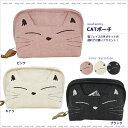 【ネコポスorゆうパケット可】CATポーチ (ノアファミリー猫グッズ ネコ雑貨 ねこ柄)051-A681