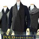 POLO by Ralph Lauren 【イタリア製】ダブルフェース ストライプマフラ-604734ポロ ラルフローレン