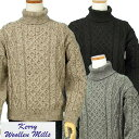 Kerry Woolen Millsアラン フィシャーマンタートルネックセーターAran Fisherman Sweater【送料無料】【あす楽対応】