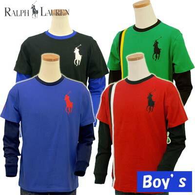 ラルフローレン ボーイズ POLO by Ralph Lauren Boys ビッグポニーレイヤード長袖Tシャツ
