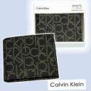 Calvin Kleinカルバンクラインモノグラム財布、ギフトボックス入りプレゼント男女兼用
