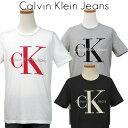 【全商品10%OFFクーポン】Calvin Klein Jeans Men'sCKビッグロゴ プリント半袖Tシャツ【2019-Spring/NewColor】カルバンクライン TシャツXL,XXL大きいサイズ 送料無料