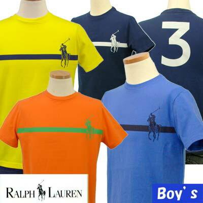 ラルフローレン ボーイズ ビッグポニープリント半袖Tシャツ