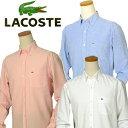【全商品10%OFFクーポン】Lacoste ラコステMen's CH3100長袖ポケット付オックスフォードシャツ【ラコステ】【送料無料】