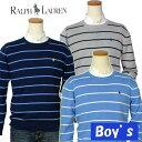 【ラルフローレン】POLO by Ralph Lauren Boy'sPimaコットン ボーダークルーネックセーター【ラルフローレン ボーイズ】