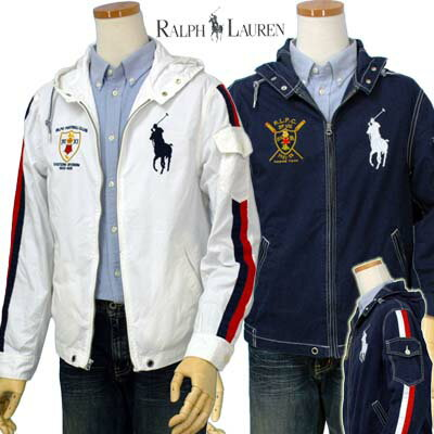 Ralph Lauren White Big Pony Men Hoodied Darkblue