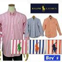 POLO by Ralph Lauren Boy'sラルフローレン長袖ストライプ ボタンダウンシャツ【ラルフローレン ボーイズ】
