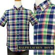 POLO by Ralph Laurenラルフローレン Boy'sマルチチェック半袖シャツ【2016-Summer/NewColor】 ギフト プレゼントポロ ラルフローレン ボーイズ