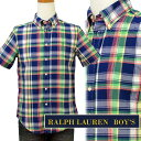 POLO by Ralph Laurenラルフローレン Boy'sマルチチェック半袖シャツ【2016-Summer/NewColor】 ギフト プレゼントポロ ...