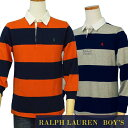 POLO by Ralph Lauren Boy'sボーダー長袖ラガーシャツ【2016-Fall/NewModel】【ラルフローレン ボーイズ】