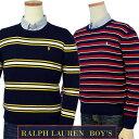 POLO Ralph Lauren Boy'sボーダーコットン クルーネックセーター【2016-Fall/NewModel】【ラルフローレン ボーイズ】