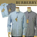 BURBERRYバーバリーMen's長袖ギンガムチェックシャツ