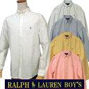 全商品10%OFFクーポン|POLO by Ralph Laurenラルフローレン Boy's定番長袖 オックスフォ-ドシャツボタンダウンシャツポロ ボーイズ