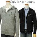【最大3000円OFFクーポン】Calvin Klein Jeans Men'sCKロゴ フルジップ...