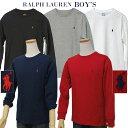 【全商品10 OFFクーポン】POLO by Ralph Lauren Boy 039 sベーシック 長袖ポイントTシャツ【2019-Spring/NewColor】【ラルフローレン T シャツ】送料無料