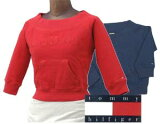 Tommy Jeans by TommyHilfiger トミ-ヒルフィガ- レディ-ス 七部袖 ボ-トネック トレ-ナ-