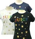 【全商品10%OFFクーポン】【Juicy Couture、ジュシ-クチュ-ル】JUICYロゴ & スタ- 半袖 Tシャツ