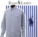 POLO by Ralph LaurenMen's 80's Sueded ブロードクロスベンガルストライプ長袖シャツ 【ラルフローレンMen's】