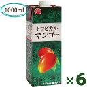 【送料無料】 ジューシー トロピカルマンゴー 1000ml×6本セット 紙パック入り ジュース 果汁30%