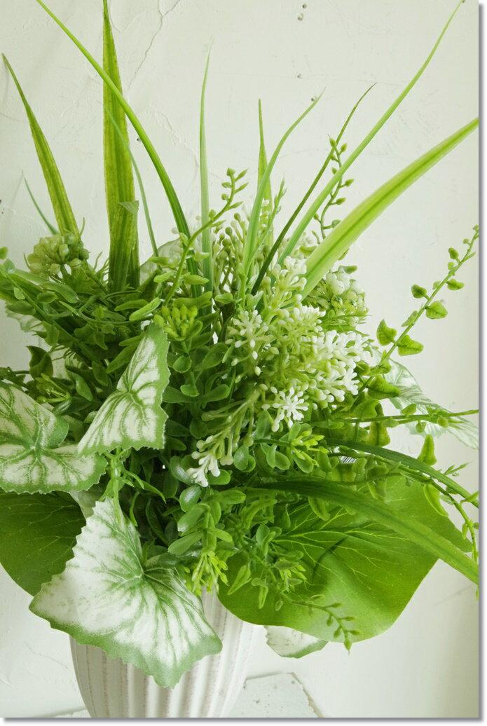 メール便400円造花花束グリーンブーケライトグリーンインテリアグリーン観葉植物フェイクグリーン