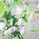 造花 インテリア カンパヌラ グリーンラベンダー アンティーク風 雑貨 アーティフィシャルフラワー 観葉植物 インテリアグリーン 花径3.5×4×高さ34cm/1本
