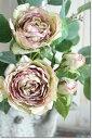 造花(バラ)インテリアグリーン 観葉植物 フェイクグリーン【造花 フレアマーブル ローズ(ココア グリーン) 】
