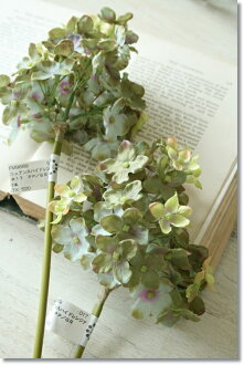 Ziyang hydrangea flower artificial flower ニュアンスハイドレンジア (purple green) 10/29 EST.
