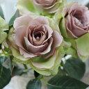 【メール便340円★】バラ 造花 ローズ アンティーク インテリア 造花 バラ(ココアグリーン1本)花径8×長さ37cm