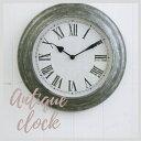 掛け時計 おしゃれ アンティーク風 雑貨 コベントガーデン ブリキウォールクロック アンティーク壁掛け時計 Φ33×奥行6.5cm