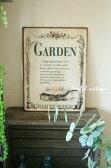 アンティーク 雑貨 サインボード サインプレート【SHABBY TIN PLATE(GARDEN)】ガーデン