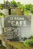 アンティーク 雑貨 サインボード サインプレート【GARE TINPLATE(CAFE)】ガーデン
