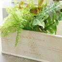楽天アンティーク雑貨 CHEERFUL植木鉢 鉢 かわいい 可愛い フレンチスタイル ナチュラル アンティーク風 寄せ植え オリーブ プランター横長/M 白系 37×17.5×H18