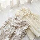 韓国子供服ジェニーワンピース 韓国 こども服 赤ちゃん ベビー キッズ ジュニア 女の子 半袖 ノースリ フリル 花柄 ブラウス