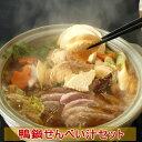 【送料込み】鴨鍋せんべい汁セット2〜3人前(鴨つみれ