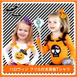 ハロウィン柄のリボン付き長袖Tシャツ♪オレンジ・白・黒・緑・紫・かぼちゃ・ドクロ・スカルテーマパークのハロウィンイベントやパーティーに!ロンTPRWT