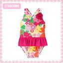 【ジンボリー 水着】 Gymboree(gymboree-3)ピンクの花柄ワンピース水着(6M 9M