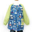 ショッピング財布 東京リッチ 子供スモック110cm メイクアップガール ネイビー (ポケット付き 長袖)日本製《入園・入学》