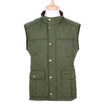 理髮師 BARBOUR 外套男裝絎縫最佳光橄欖資源管理器中馬甲 MQU0657 OL51 中期橄欖