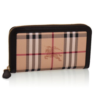 Burberry LG ZIGGY HYM 93301 2070 (3640455) CLASSIC CHECK/CHOCOLATE Round Zip Wallet BURBERRY [fs01gm]