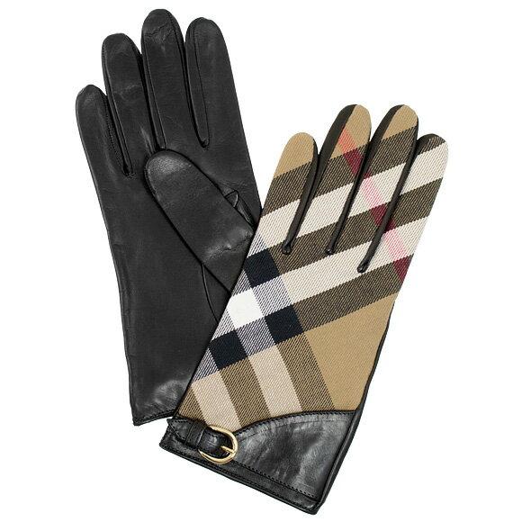 バーバリー BURBERRY レディース グローブ LG KAT ブラック 3975671 CHECK:ABDYQ 00100 BLACK
