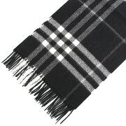 バーバリー BURBERRY カシミアマフラー GIANT ICON ブラックチェック 4030500 168:CS 0010B BLACK CHECK 【英国】