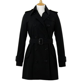 BURBERRY / Burberry women's trench coat black MARYSTOW 3762015 00100 BLACK BURBERRY ばーばり.