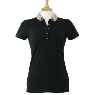 3847356 00100 BURBERRY/ burberry Lady's short sleeves polo shirt black YNG81270 BLACK BURBERRY BRIT ばーばりー