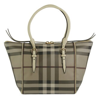 BURBERRY / Burberry ladies tote bag スモークドチェック / trench SM SALISBURY SSD 3884121 2, TRENCH S CHECK BURBERRY ばーばり.
