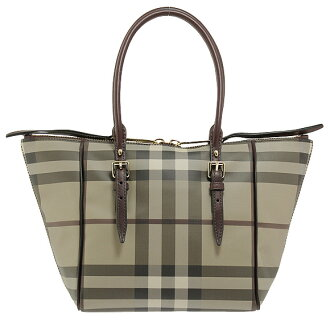 BURBERRY / Burberry ladies tote bag スモークドチェック / wine red SM SALISBURY SSD 3884123 5063T BOYSENBERRY S CHECK BURBERRY ばーばり.