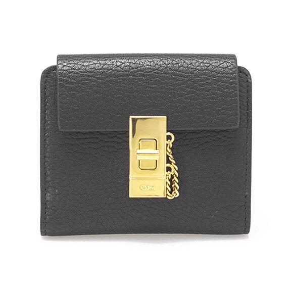 クロエ CHLOE 財布 レディース 二つ折り財布 ミニ財布 DREW [ドリュー] ブラック C16AP805/3P0805 944 001 BLACK