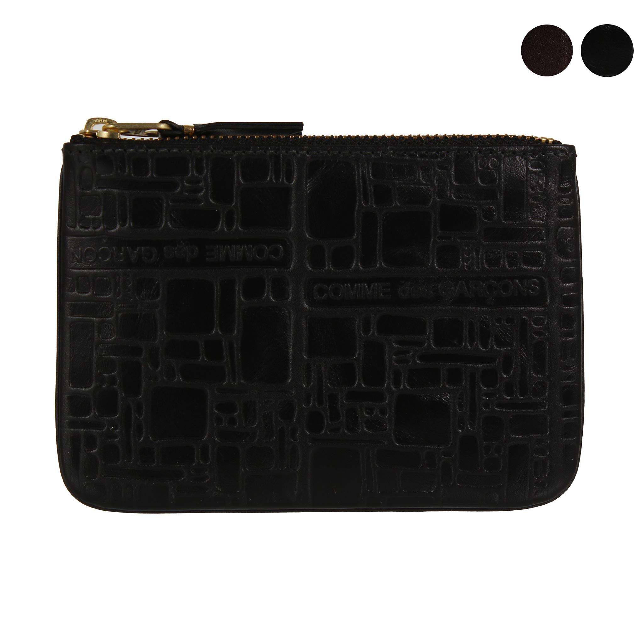 コムデギャルソン COMME DES GARCONS 財布 コインケース ブラック 黒 EMBOSSED LOGOTYPE SA8100EL BLACK
