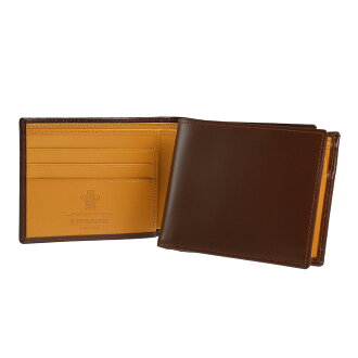 Ettinger two fold wallets (purses with) Havana Brown 3 c/c BRIDLE BILLFOLD/PURSE 141JR/141AJR HAVANA ETTINGER eh! I! fs3gm